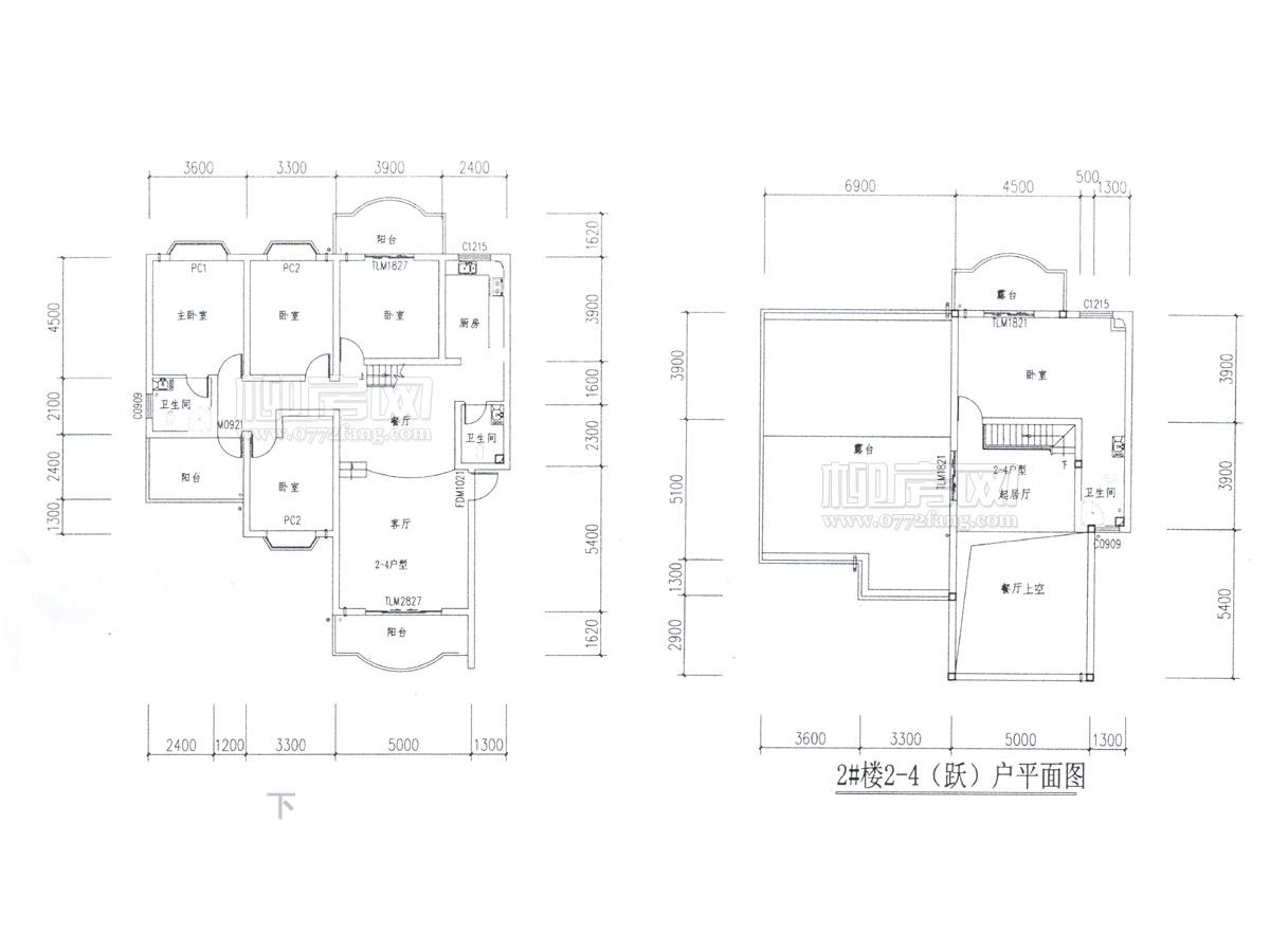 2#楼4户型(楼中楼)