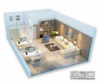 141�O天地楼商铺3D户型图
