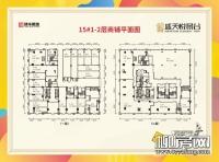 15#楼1、2层商铺平面图