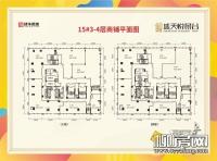 15#楼3、4层商铺平面图
