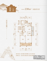 22#楼I户型上叠首层
