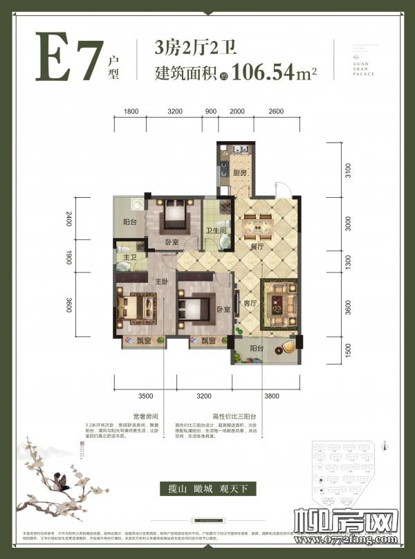 1#楼17#楼E7户型