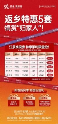「颐华·雍和城」5套建面约119㎡户型特惠5158元/㎡起
