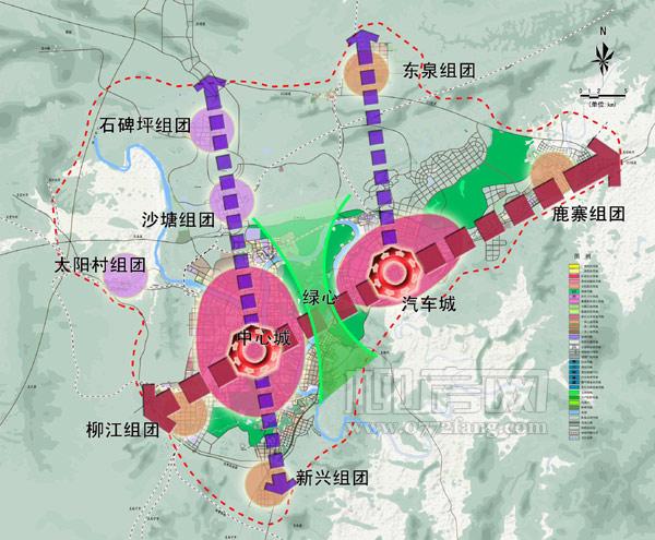 涟水规划图大图_柳州市构建超大城市空间布局规划(图) - 城市规划建设 - 柳州 ...