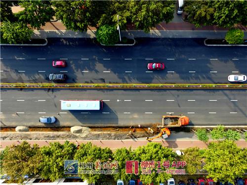 为改善燎原路的道路通行舒适性和景观效果,市政设施维护管理处于
