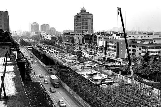 柳州市道路规划图-柳州胜利路 路上架路 工程 预计明年4月份通车
