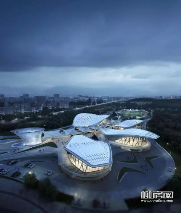 鹧鸪江桥头体育公园项目效果图-鹧鸪江体育公园项目开工 河西再增4千