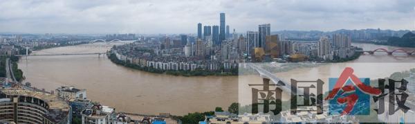 逼近警戒水位!柳江河市区段8日迎82.41米洪峰