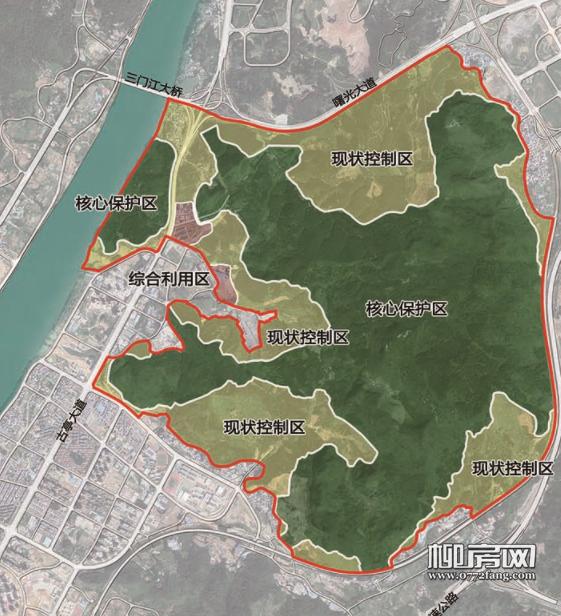 莲花山保护范围古亭山片区划分图.png