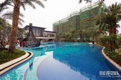 彰泰城园林泳池展示区开放