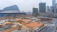 柳州火车站东西站房工程进展